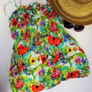FOREVER 21 floral print Dress L